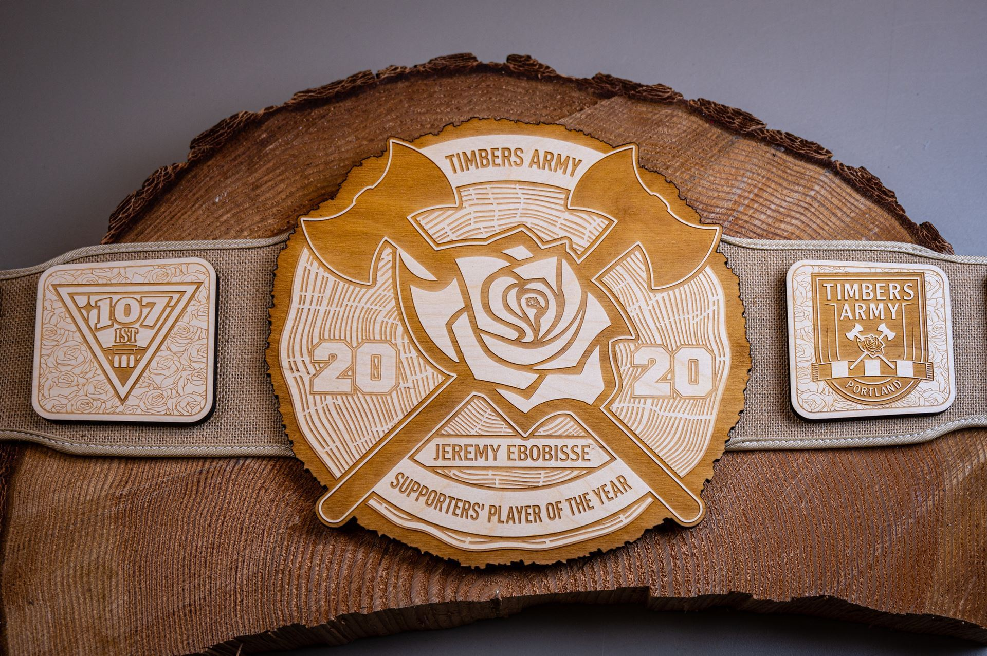 2020 Supporters' Player of the Year belt